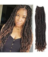 7 Pacs Pre Twisted Passion Twist Crochet Hair Pre-looped Passion Twist H... - $42.44