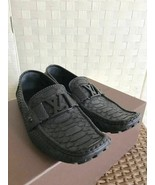 Louis Vuitton LV Python driving shoes black leather FA0191 7 26 26.5cm logo - $998.07