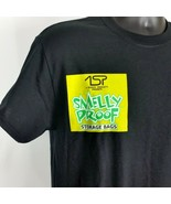 Smelly Proof Bags Merchandise Company Work Mens Med Black Tee Shirt T-Shirt - $29.99