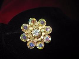 Vintage Beautiful Aurora Borealis One Single Clip on Earring - $6.76