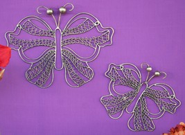 POTTERY BARN WROUGHT IRON BUTTERFLY DÉCOR (2) – NIB – SPREAD YOUR DISPLA... - $48.72