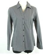 FOXCROFT Size M (8-10) Black White Checked Blouse Button Down Top - $21.99