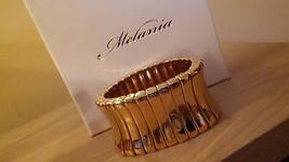 MELANIA TRUMP thin link   Brilliant  GOLD tone STRETCH BRACELET- NIB    ... - $38.61