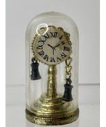 """Vintage TINY DOLL HOUSE DOME CLOCK 1 3/4""""Miniature Detailed Furniture A... - $9.85"""