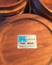 Set of 6 Vintage 60s Kalmar teak wood salad bowls image 3