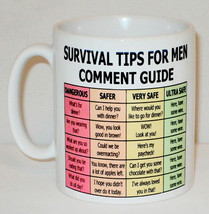 Survival Tips For Men Mug Can Personalise Funny Wife Husband Hubby More ... - $9.78