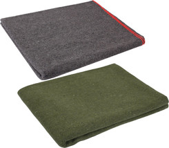 """Wool Emergency Survival Blanket Rescue Large Cover Throw Bed Camping 60""""... - $19.99"""