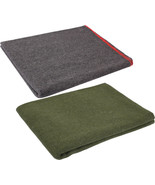 """Wool Emergency Survival Blanket Rescue Large Cover Throw Bed Camping 60""""... - $20.99"""