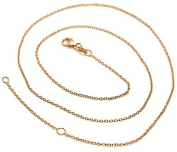Mini Gold Chain Pink 750 18K, 40 45 or 50 cm, Jersey Rolo, Circles Diame... - $218.34+