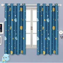 BGment Blackout Boy Curtains - Grommet Thermal (52W x 63L|Planet Navy) - $71.19
