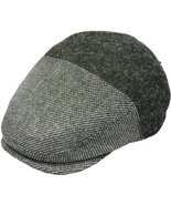 Henschel Wool Blend Ivy Herringbone Front Solid Back Cotton Lining Black... - $49.00