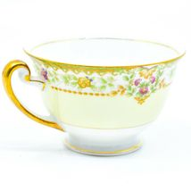 Meito China Blue Yellow & Pink Flower Gold Accent Teacup Tea Cup image 3