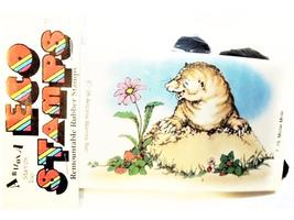 Eco Stamps Mollie Mole Unmounted Rubber Stamp #F-79