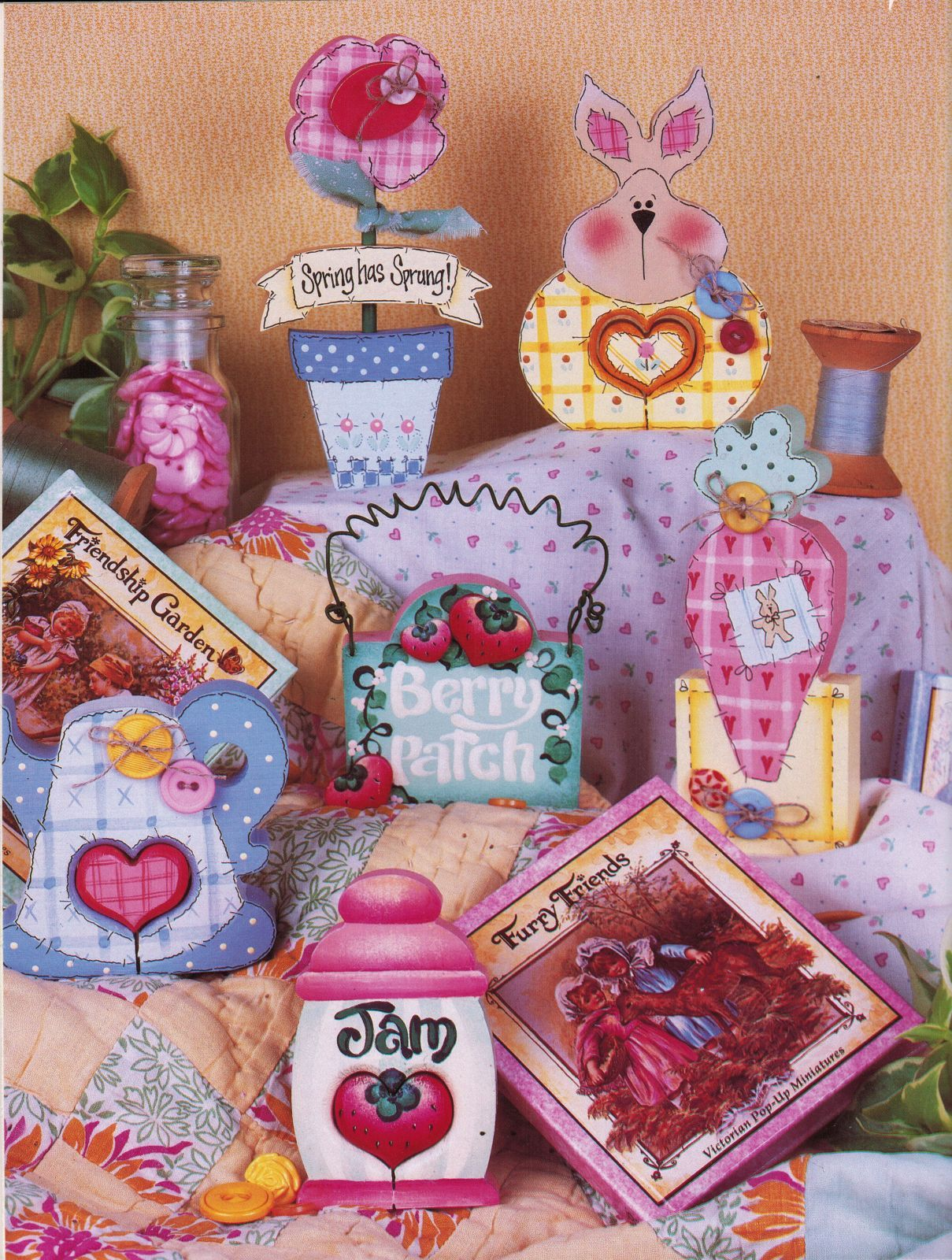 Tole Decorative Painting Sitters & Such Love Chunks Hang Ups Easter Book