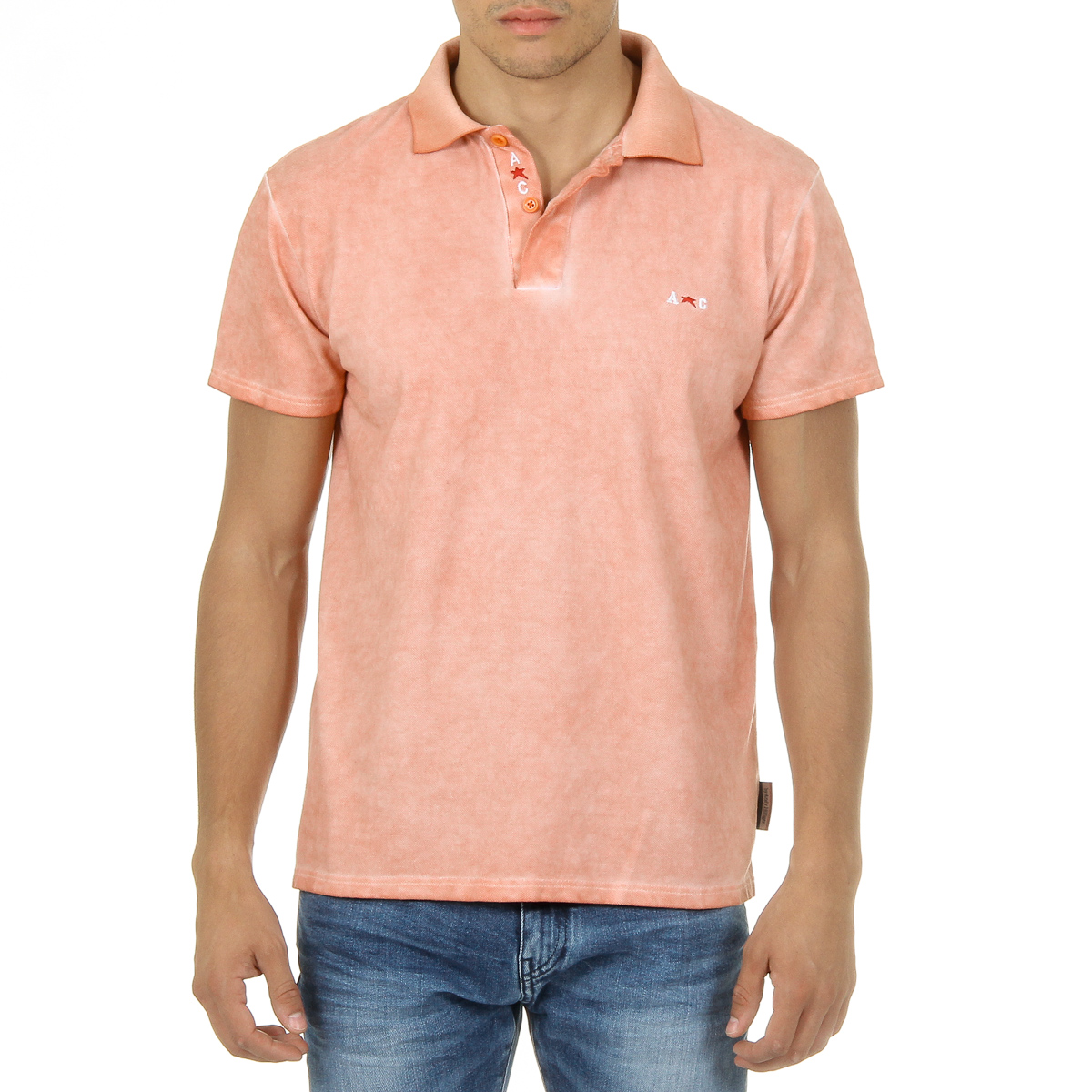 Primary image for Andrew Charles Mens Polo Short Sleeves Orange SIMBA
