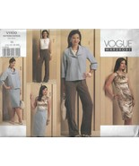 Plus Sz VOGUE Wardrobe Pattern #V1100-Misses Jacket-Top-Dress-Skirt-Pant... - $12.16