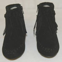 I Love Yo Kids AVA 92T Girls Fringe Boot Black Zip Up Size Nine image 2
