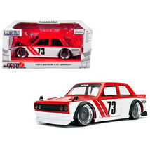 1973 Datsun 510 Widebody #73 Red JDM Tuners 1/24 Diecast Model Car by Ja... - $35.79