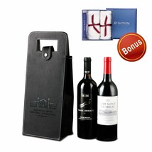 Wine Gift Bags Upscale Resuable Leather Wine Tote Bag,Double Layered Lea... - $16.82