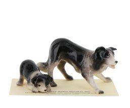 Hagen Renaker Dog Border Collie and Pup Ceramic Figurine Set image 3