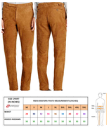 Men's New Latest Native American Buckskin Tan Color Goat Suede Leather P... - $78.21+