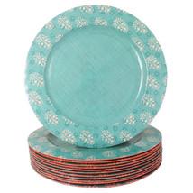 Studio California Solina 12 Piece 11 Inch Melamine Dinner Plate Set in D... - $54.24