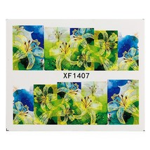 1 Sheet Flower Nail Decals Art Water Transfer(XF1407) - $6.31