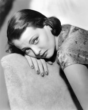 Sylvia Sidney Looking Forlorn Head On Hand Over Chair 16X20 Canvas Giclee - $69.99