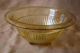 "Diamond Glass Adam's Rib Amber Rimmed Serving 8 3/4"" Bowl #900 Circa 1925 - $35.99"