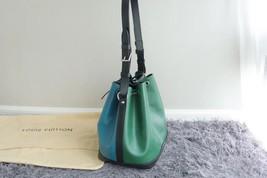 100% Authentic Louis Vuitton Epi Noe BB Bucket Bag Bi Color Blue image 3