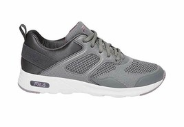 Brand New Women's Fila Lt. Grey Memory Foam Frame V6 Athletic Running Shoes image 2