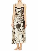 NWT New Josie Natori M Black White Silver Silk Floral Womens Nightgown D... - $323.70