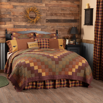 Primitive Patchwork Quilts Heritage Farms Vhc Brands King Queen Twin Lodge - $119.95+