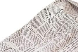 [NEWS Paper] 55'' Wide Handworked Fabric Cotton & Linen Fabric(2055 Inches)