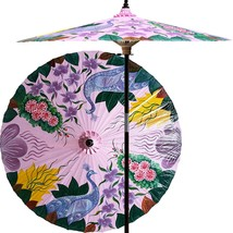 Peacock Garden (Pristine Pink) Outdoor Patio Umbrellas - $199.95