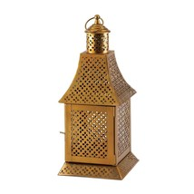 Lantern Hanging, Enigma Gold Metal Floor House Porch Outdoor Lantern - $51.09