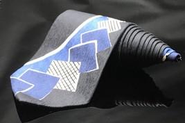 Structure Men's tie Abstract Blue White Square NeckTie - $11.95