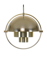 MULTI-LITE pendant by Louis Weisdorf, Lyfa, 1974 Amazing & attractive br... - $2,778.00