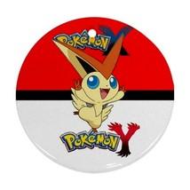 Anime Pokemon X Y Yveltal Pokeball Victini XY Round Procelain Ornament C... - $3.95