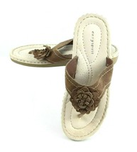 Easy Spirit Womens Slide Sandals Shoes Brown Tan Size 10 EUC - $24.64 CAD