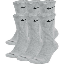 NEW Nike Everyday Plus Cotton Cushioned Crew Socks 6x LARGE  SX6897-063 Gray Dri - $22.00