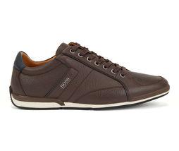 Hugo Boss Men's Premium Sport Leather Sneakers Shoes Saturn Lowp Dark Brown (7) image 3