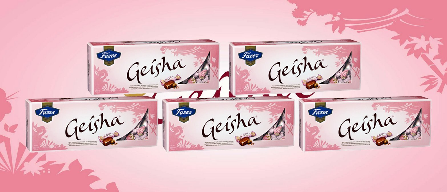 5 Boxes of Fazer Geisha Milk Chocolate with Hazelnut Filling 1750g 62 Oz Finland