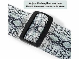 Guitar Strap with Adjustable Buckle and Leather Ends, 2 inches Wide image 1