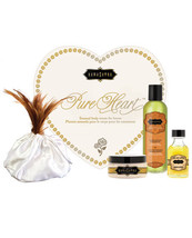 KAMA SUTRA PURE HEART VANILLA MASSAGE KIT GIFT SET SENSUAL LOVERS BODY T... - $36.62