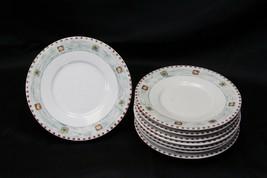 "Gibson Snowman Xmas Saucer Plates 6.5"" Lot of 8 - $37.23"
