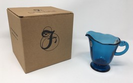 Fenton Art Glass Indigo Blue Pitcher - New With Box and Tags! #8164 ZW - $49.50