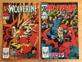 Wolverine 7 & 9 1989 Marvel Comic Book Lot VF Condition Incredible Hulk - $8.18