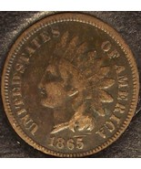 1865 Indian Head Cent Penny VG10 #0301 - $12.79