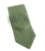 Brooks Brothers 346 Long Green Geo Print Stain Resistant Pure Silk Neck ... - $23.76